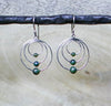 Jade Triple Circle Earrings