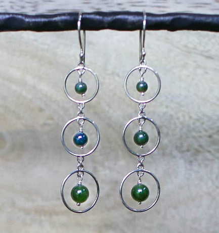 Jade 3 Circles Earrings