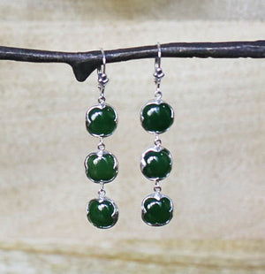 Jade Triple Essentials Earrings