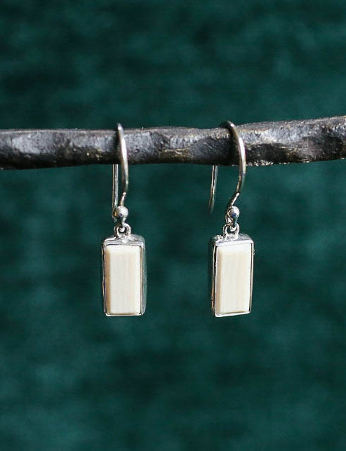 SOLD OUT Rectangle Mammoth Earrings