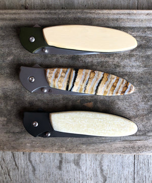 Kershaw Fossil Walrus Ivory Pocket Knife