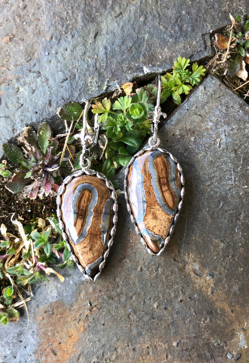 Mammoth Tooth Inverted Drop Earrings