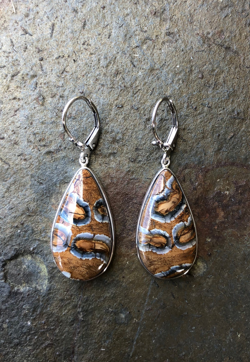 Mammoth Tooth Drop Earrings