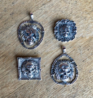 Sterling Skull Pin/ Pendants