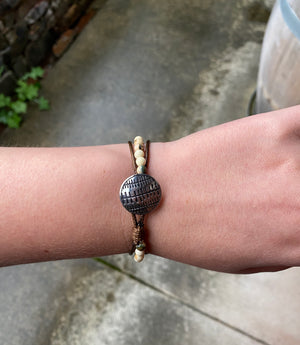 Oval Essentials Vegan Leather Bracelet