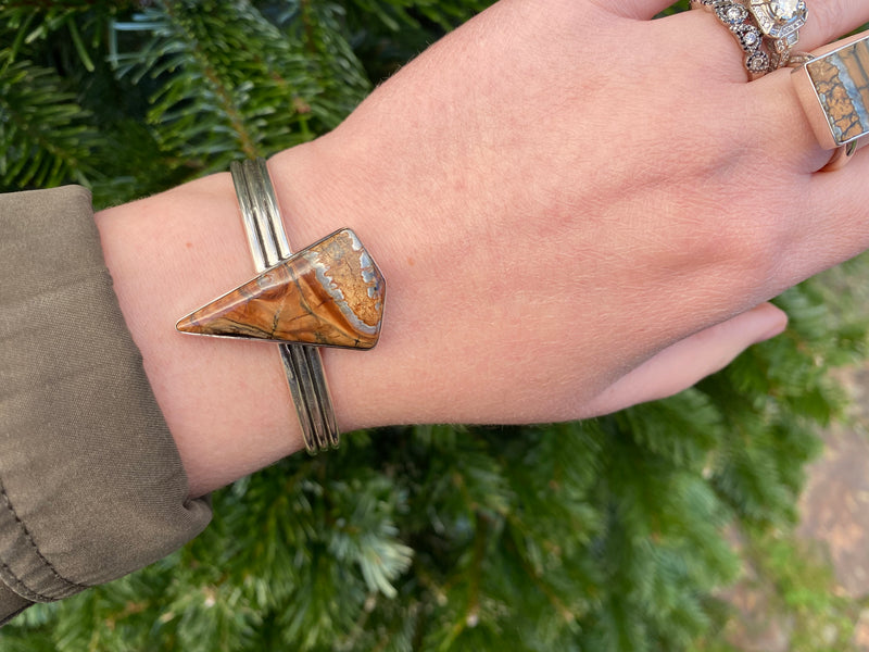 Triple Band Mammoth Tooth Cuff