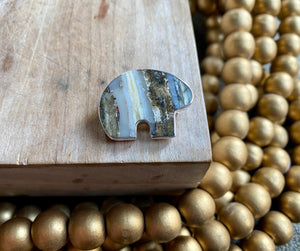 Mammoth Tooth Bear Pin/ Pendant