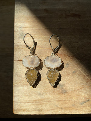 Gatsby Druzy Lever Back Earrings