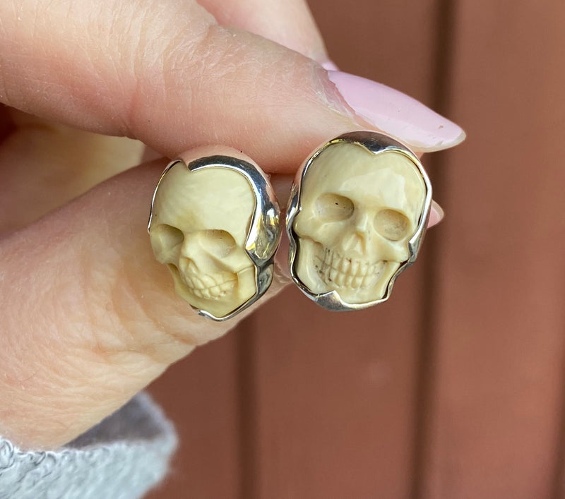 Mammoth Skull Earrings