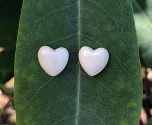 Small Puffed Heart Earrings