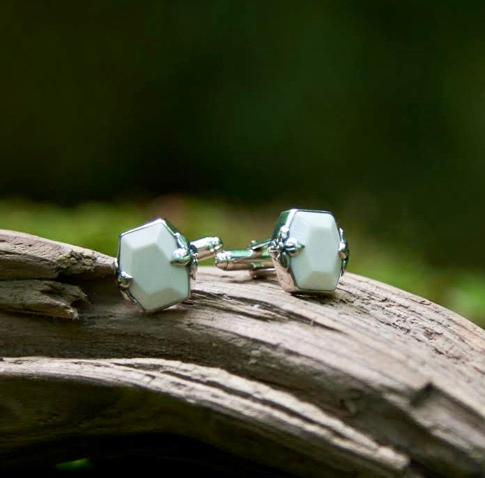 Faceted Mammoth Ivory Cufflinks