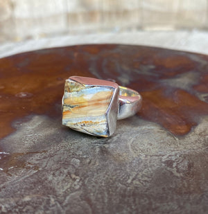Square Mammoth Tooth Ring