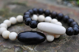 Oval Mammoth & Ebony Men's Bracelet