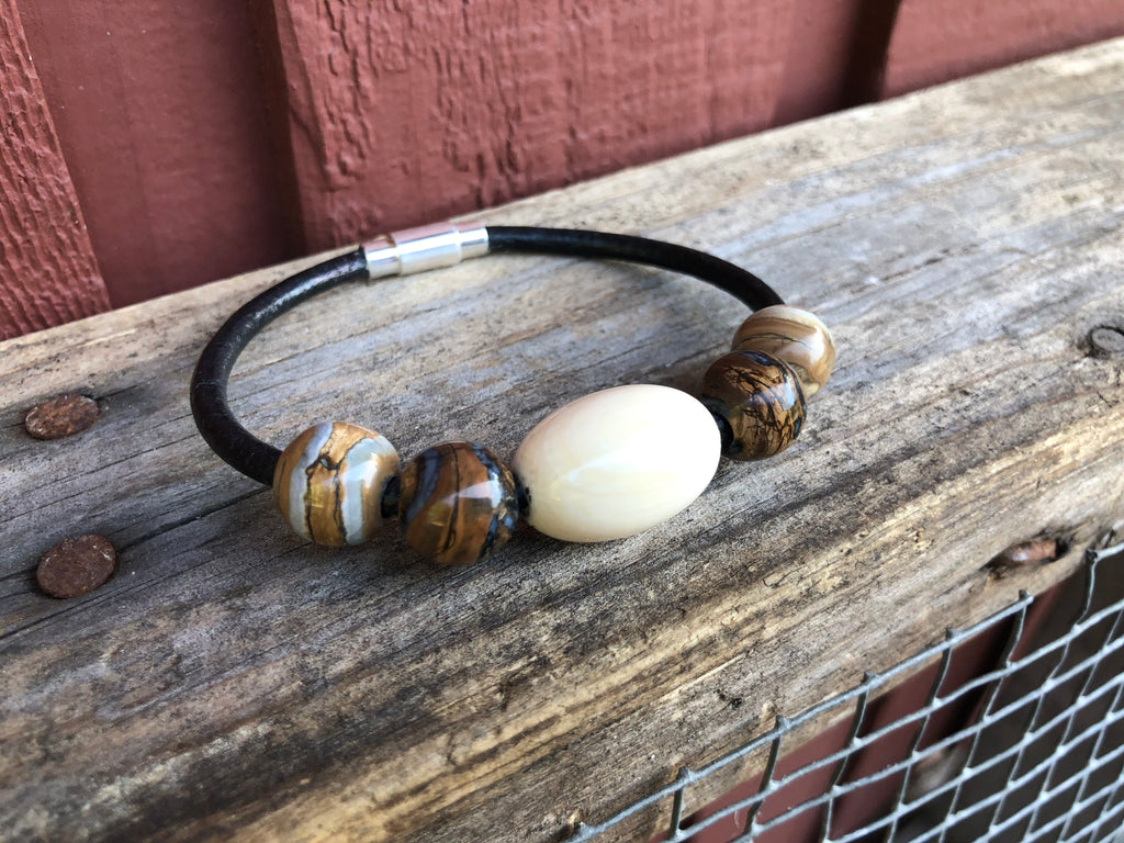 Woolly Mammoth Ivory + Tooth Bracelet