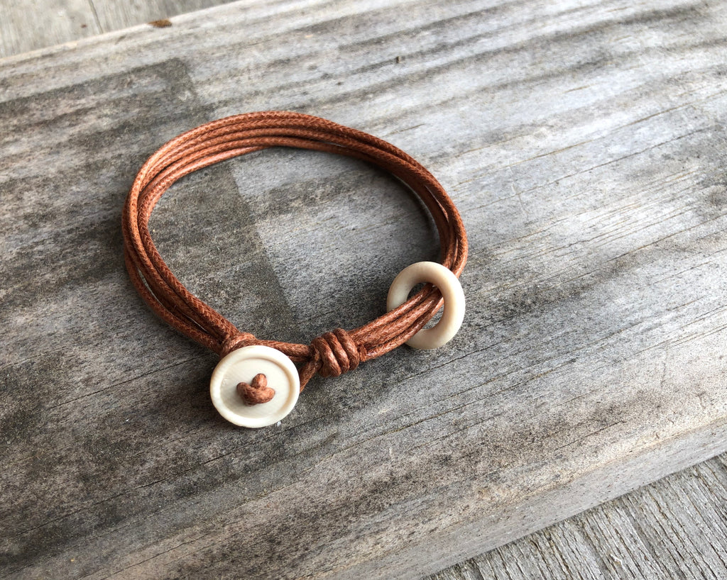 Mammoth + Vegan Leather Bracelet