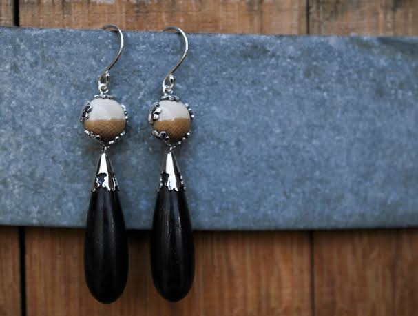 Mammoth + Ebony Lace Drop Earrings