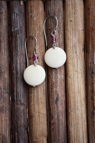 Domed Circle Earrings