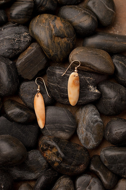Walrus Tooth Earrings