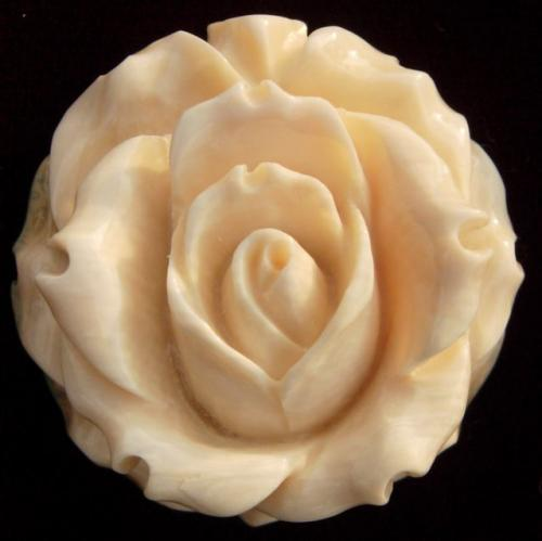 Round Rose Brooch