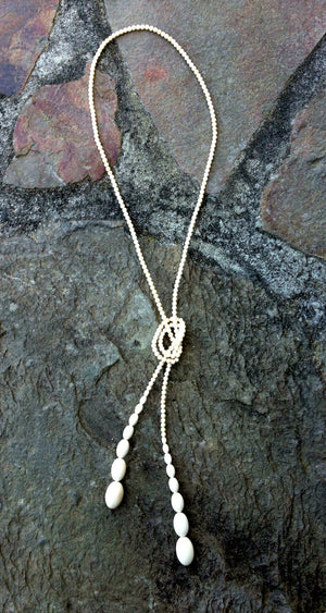 Fossil Mammoth Lariat Necklace