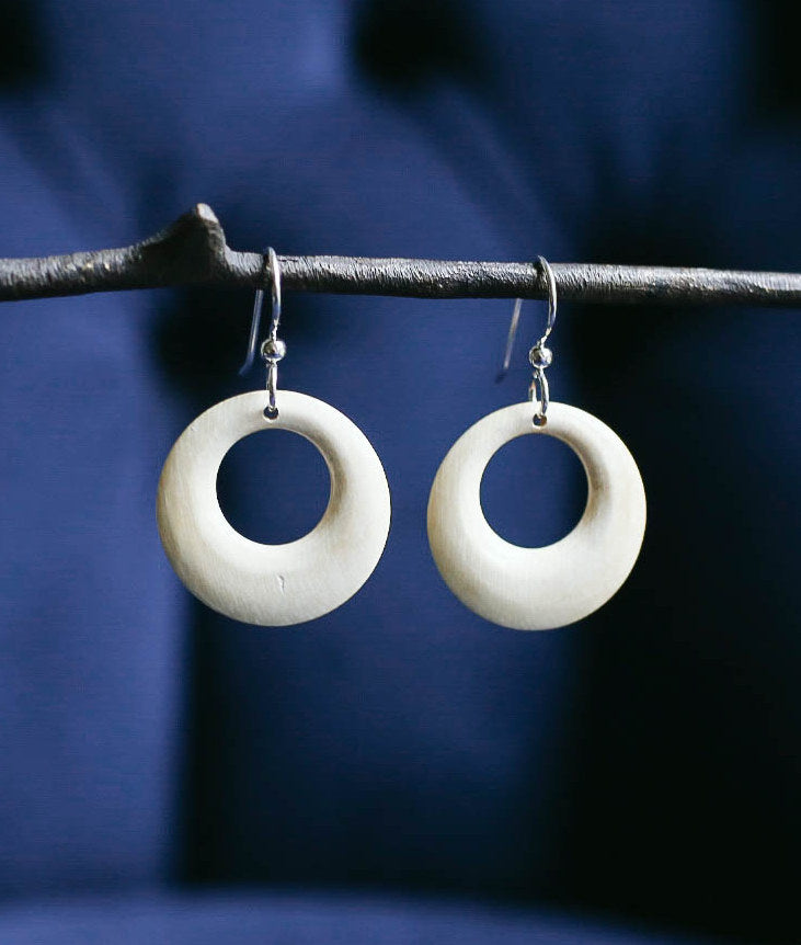 Mammoth Open Circle Earrings