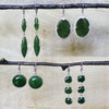Jade Open Petals Earrings