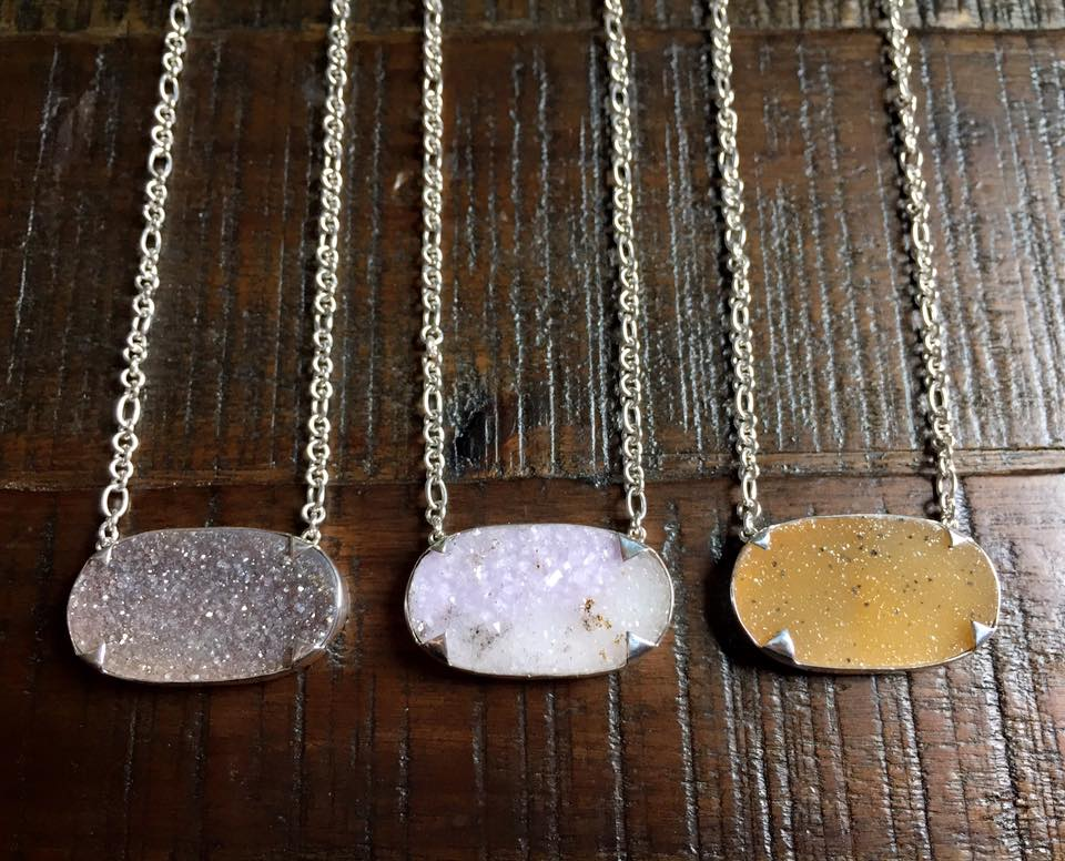 Oval Druzy Necklace