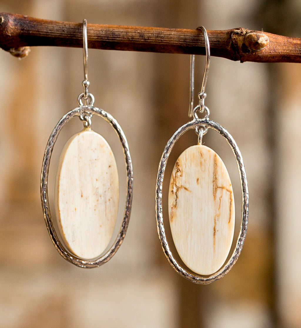 Mammoth Oval Tundra Earrings