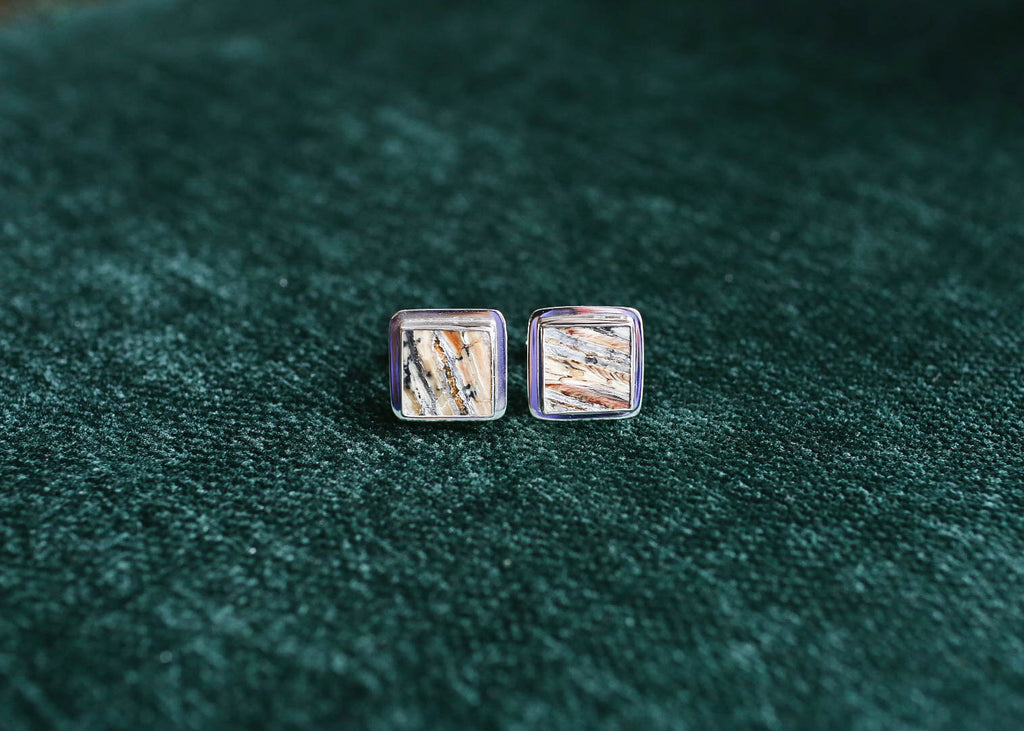 Square, Flat Mammoth Tooth Cufflinks