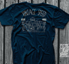 Vintage Speed Blue T Shirt