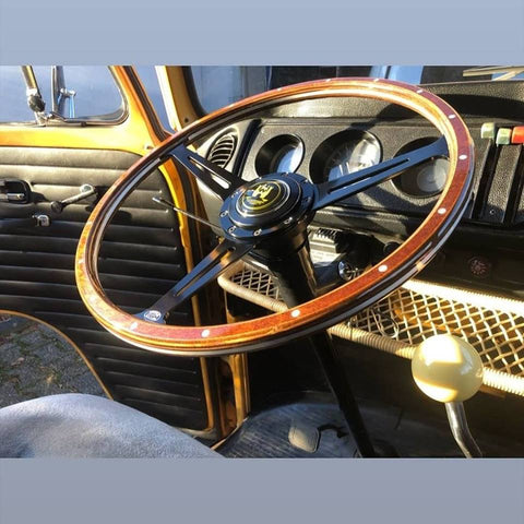 Stealth Black Baywindow Bus Steering Wheel