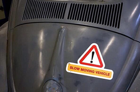 SLOW MOVING VEHICLE MAGNETIC PATINA'D SIGN