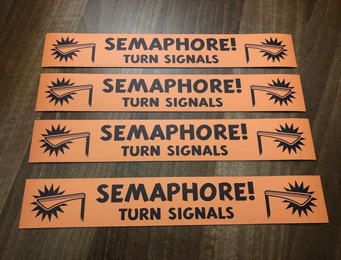 SEMAPHORE TURN SIGNALS MAGNET OR STICKER