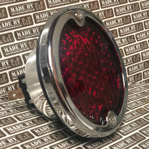 Rear light complete units with Hella glass lenses fits bus 1958 - 1961