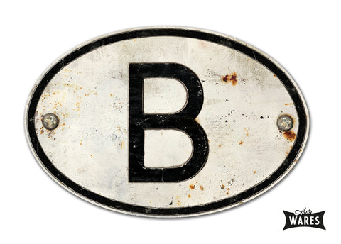 "MAGNETIC BELGIUM ""B"" COUNTRY BADGE"