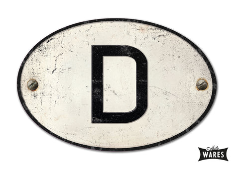 "MAGNETIC GERMAN ""D"" COUNTRY BADGE"
