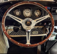 Steering wheel polished with slotted spokes by Aircooled Accessories .
