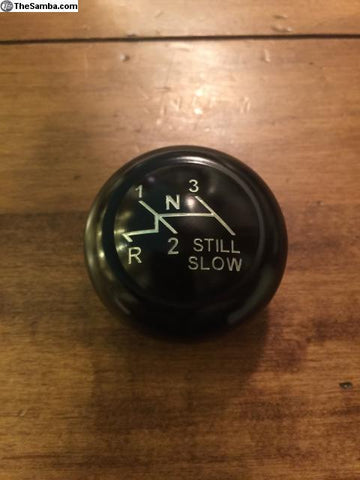 "Shifter knob ""Still Slow"" logo  7mm early style"
