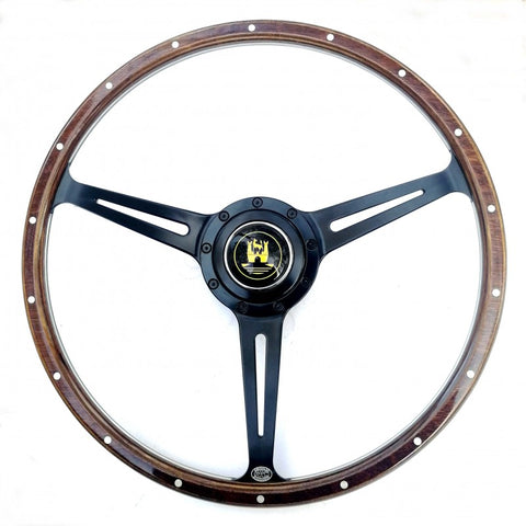 Stealth Black Wolfsburg Steering Wheel - Fits Bug , Ghia and Type 3