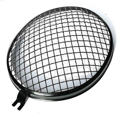 Vintage style Mesh Headlight Grilles Stealth Black (splitscreen bus & pre 67 bug)