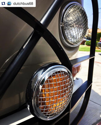 Mesh grill style amber spot light by Aircooled Accessories