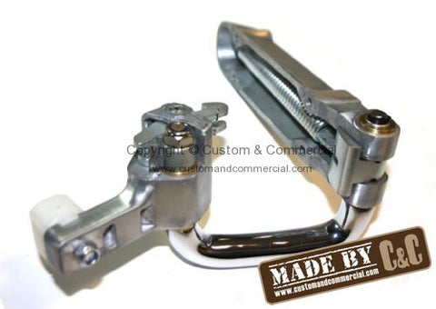 Slider Door Track Runner Unit With Chromed Outer Bracket 68-79 Bus