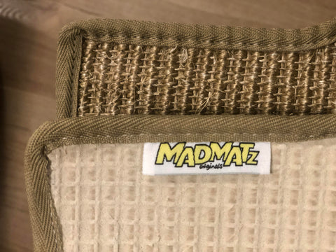 Natural Sisal Late Split Bus Cab Mat Fine Weave Fudge With Sand Egde Trim 1960 to 1967