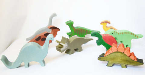wooden dino toy
