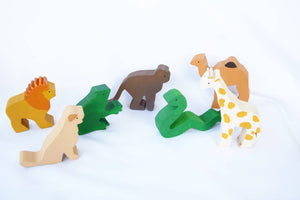wooden animals toy set, story sack, zoo animals, gift for kids, story set, waldorf wooden toy, amimals toy, waldorf inspired, christmas gift