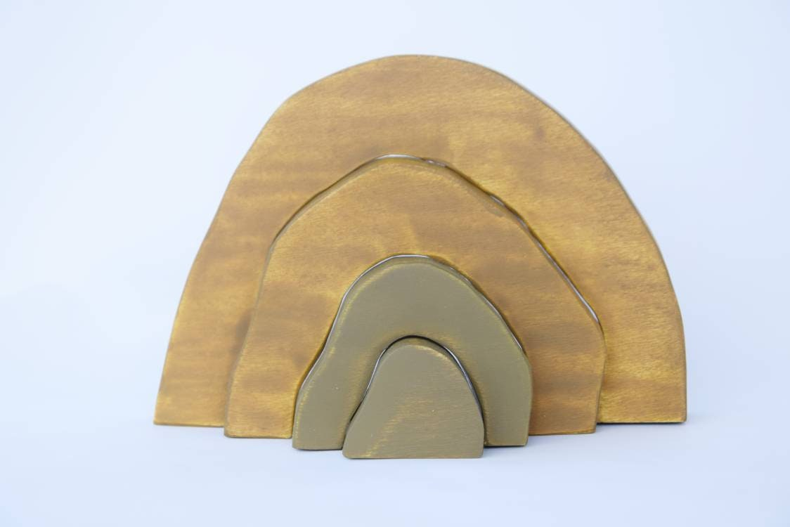 Cave wooden toy, wooden stacking toy