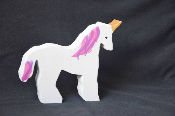Unicorn, unicorn wooden toy