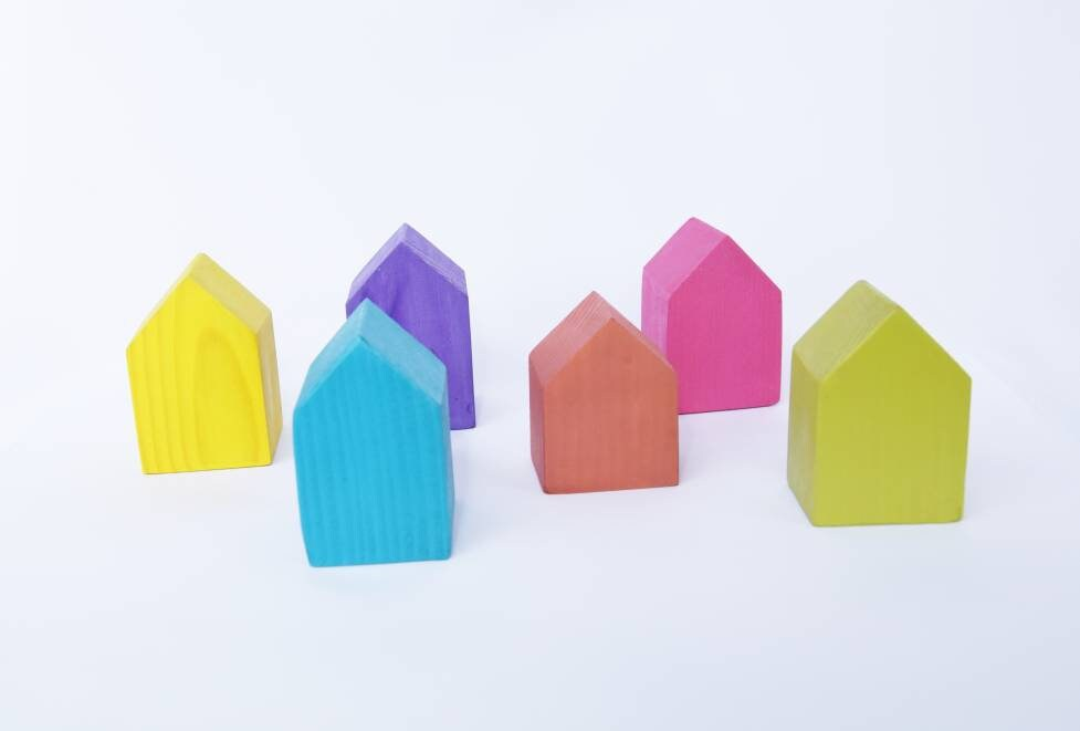 Wooden houses, colorfull houses