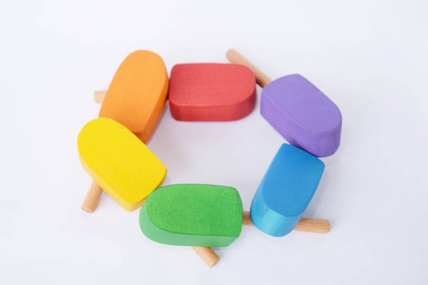 Play food icecreams, wooden play food