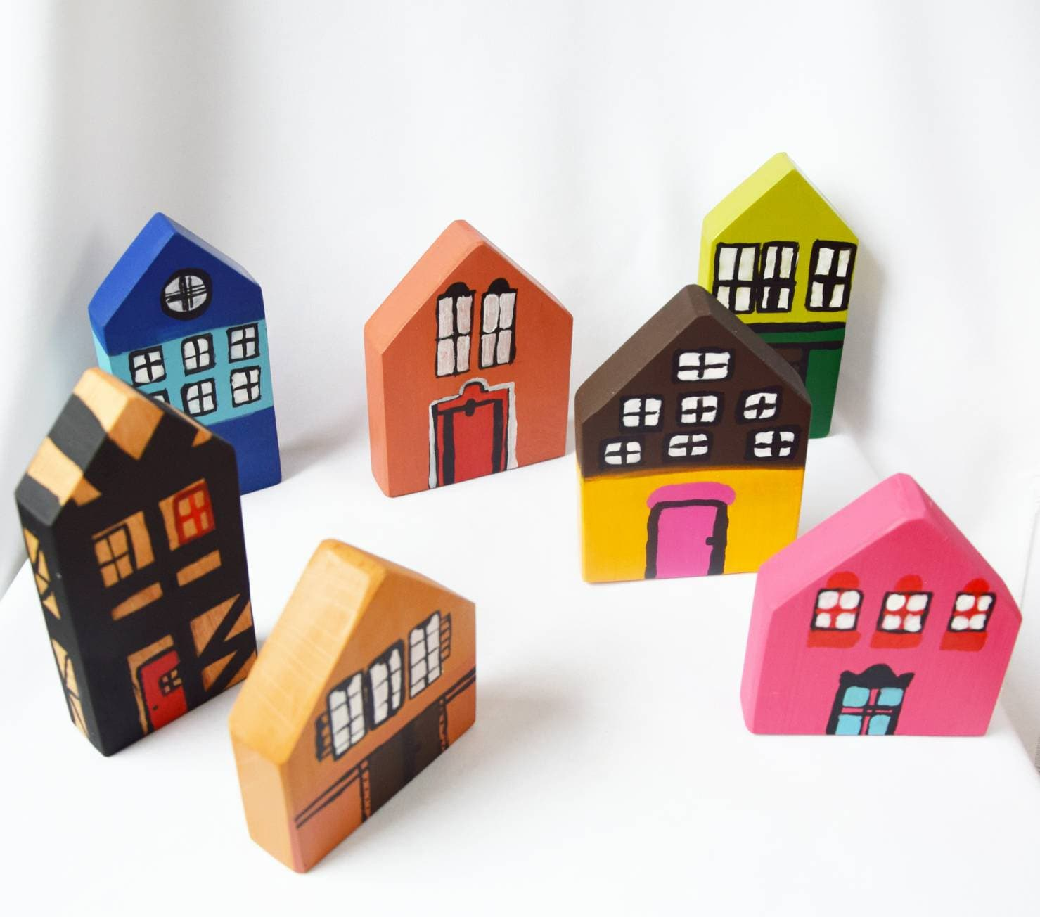 Wooden house, house of choice wooden toy, wooden decor, open ended play, imaginative play, waldorf inspired toy, decorative house,